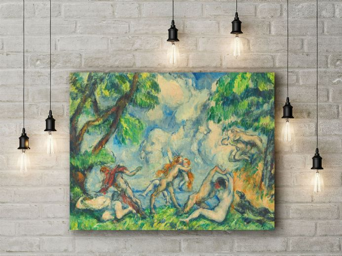 Paul Cezanne: The Battle of Love. Fine Art Canvas.